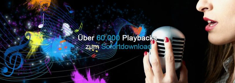 Über 60.000 Playbacks zum Sofortdownload